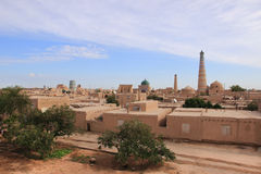 Panoramic view of Itchan Kala in Khiva city, Uzbekistan Stock Image