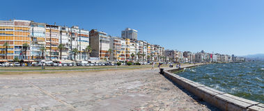 Panoramic view of Izmir waterfront, Turkey Royalty Free Stock Photos