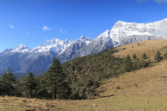 Panoramic view of the Jade Dragon Snow Mountain in Yunnan, China Stock Photography