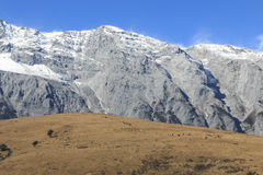 Panoramic view of the Jade Dragon Snow Mountain in Yunnan, China Stock Photos