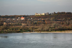 Panoramic view of Janowiec near Kazimierz Dolny. Poland Stock Photo