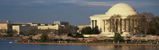Panoramic view of Jefferson Memorial Royalty Free Stock Photo