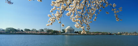 Panoramic view of Jefferson Memorial Stock Images