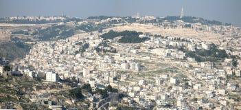 Panoramic view of Jerusalem stock photography