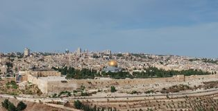 Panoramic view of Jerusalem. The Old City Royalty Free Stock Photo