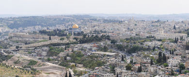 Panoramic view of Jerusalem Royalty Free Stock Image
