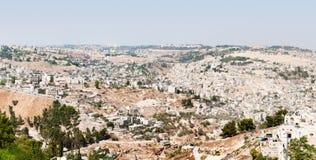 Panoramic view of Jerusalem old city Stock Photo