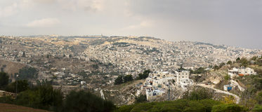 Panoramic view Jerusalem Royalty Free Stock Photo