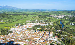 Panoramic view of Jimena de la Frontera, Cadiz, Spain Royalty Free Stock Photo