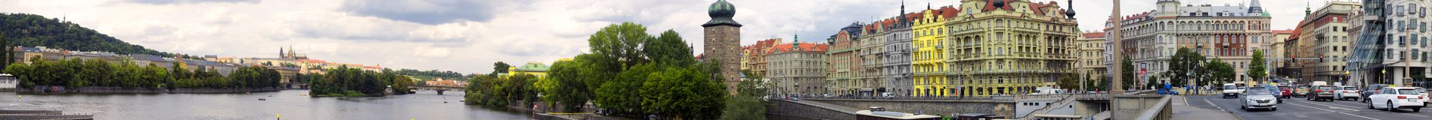 Panoramic view of Jiraskuw most Stock Image