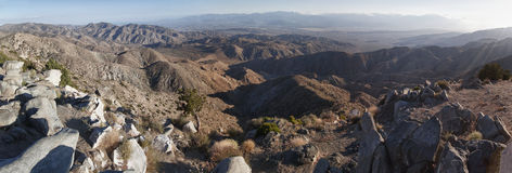 Panoramic view of the Joshua Tree national park Royalty Free Stock Image