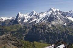 Panoramic View of Jungfrau Stock Images