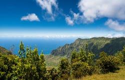 Panoramic view of Kalalau valley Kauai Royalty Free Stock Photo