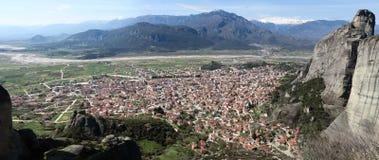 Panoramic view of Kalambaka Stock Photo