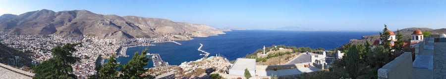 A panoramic view of kalymnos Royalty Free Stock Image