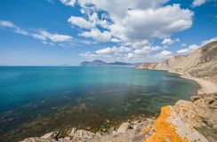 Panoramic view of the Kara Dag Mountain Royalty Free Stock Photo