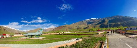 Panoramic view of Kargil war memorial Stock Photo