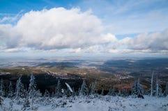 Panoramic View, Karkonosze Poland Stock Photos