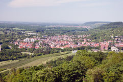 Panoramic view of Karlsruhe from Turmberg, Germany Royalty Free Stock Photography