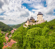 Panoramic view of Karlstein Castle Stock Image