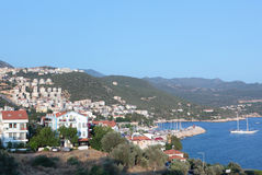 Panoramic view of Kas bay Stock Image