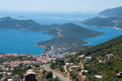 Panoramic view of Kas (Turkey) Royalty Free Stock Photo