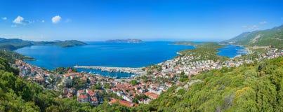 Panoramic view Kas in Turkey Royalty Free Stock Photos