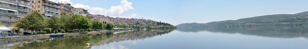 Panoramic view of Kastoria Royalty Free Stock Image