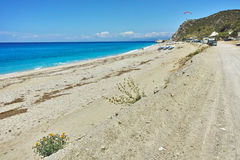 Panoramic view of Katisma Beach, Lefkada Royalty Free Stock Images