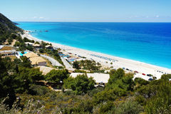Panoramic view of Katisma Beach, Lefkada Royalty Free Stock Photo