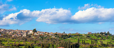 Panoramic view of Kato Lefkara village. Limassol District, Cypru Royalty Free Stock Photography