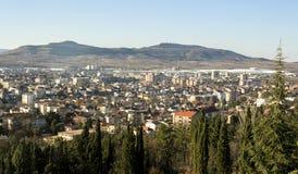 Panoramic view of Kavadarci, Macedonia. Tikvesh wine region. Stock Photography