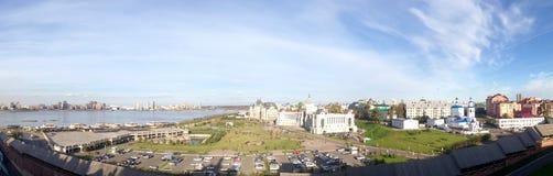 Panoramic view of Kazan, Russia Royalty Free Stock Photos