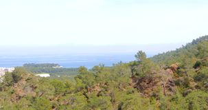 Panoramic view of Kemer, Turkey. Panoramic view of spring Kemer, Turkey in 2018 stock video footage