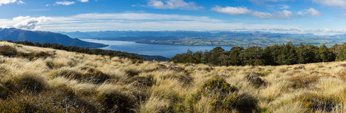 Panoramic view of Kepler Track. One of the New Zealand Great Walks Royalty Free Stock Photography