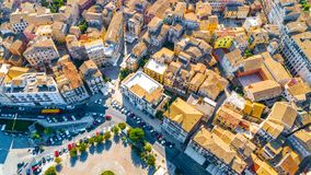 Panoramic view of Kerkyra, capital of Corfu island. Greece stock images