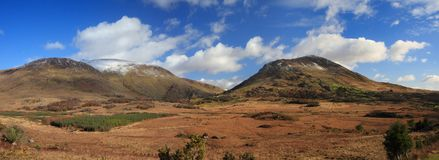 Panoramic view of Kerry mountains Royalty Free Stock Photography