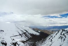 Panoramic view from Khardung La pass Royalty Free Stock Images