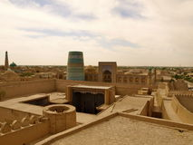Panoramic view of Khiva. In Uzbekistan royalty free stock images