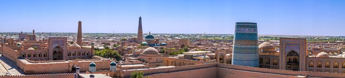 Panoramic view of Khiva - Uzbekistan Stock Photos