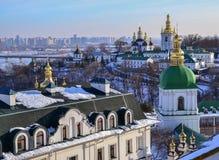 Panoramic view of Kiev Pechersk Lavra Stock Images