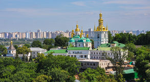 Panoramic view of Kiev Pechersk Lavra in Kiev, Ukraine royalty free stock photos