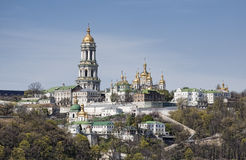 Panoramic view of Kiev Pechersk Lavra Monastery Stock Photography