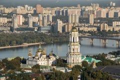 Panoramic view of Kiev Pechersk Lavra Orthodox Monastery in Kiev Stock Photo