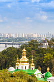 Panoramic view of Kiev Pechersk Lavra Orthodox Monastery in Kiev Stock Image