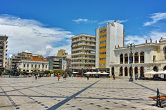 Panoramic view of King George I Square in Patras, Peloponnese. Western Greece stock photography