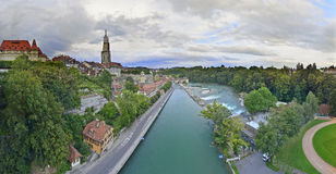 Panoramic view from Kirchenfeldbrücke Royalty Free Stock Photo