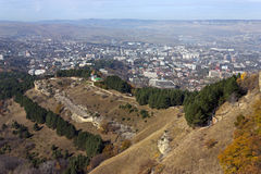 Panoramic view of Kislovodsk. And Mountains,Northern Caucasus,Russia royalty free stock photo