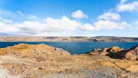 Panoramic view of Kleifarvatn lake in Iceland Stock Photos