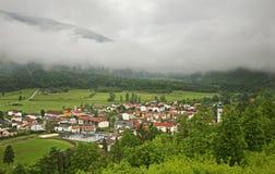 Panoramic view in Kobarid. Slovenia.  Stock Photo